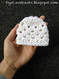 ec659cd5158 Ravelry  Chunky-Like Preemie Granny Square Beanies pattern by ...