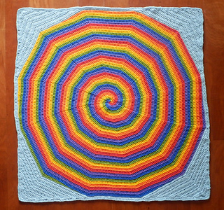 Rainbow Spiral Baby Blanket pattern by Monique Hudson