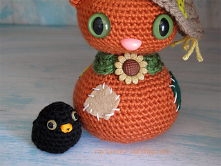 Amigurumi Lalaloopsy Free Pattern : Ravelry amigurumi scarecrow cat and crow pattern by the enchanted