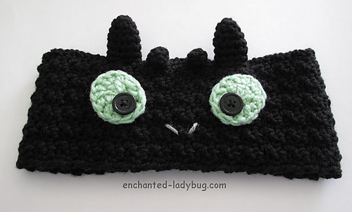Ravelry Toothless Ear Warmer Headband Pattern By The Enchanted Ladybug