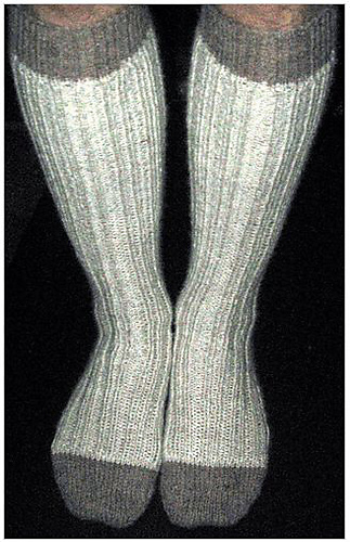 Ravelry Knee High Mens Ribbed Socks Pattern By Annie