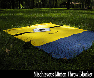 Ravelry: Mischievous Minion Throw Blanket pattern by Aunt Janets Designs