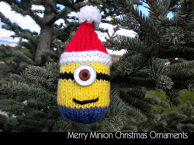 ravelry merry minion christmas ornaments pattern by aunt janets designs - Minion Christmas Tree