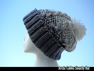 Ravelry  Arctic Cables Slouchy Hat pattern by Aunt Janet s Designs 1e9c7bb5298