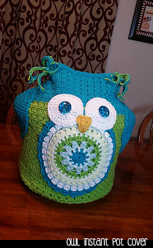 Ravelry Owl Instant Pot Cover Pattern By Aunt Janet S Designs