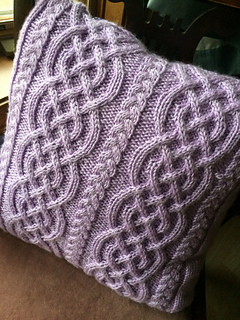 Ravelry: Celtic Knit Aran Pillow pattern by Glenna C.