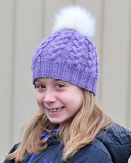 4c3aa1eef961f Ravelry  Windy City Cabled Beanie pattern by Wendy Prager Goeckner
