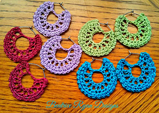 Ravelry Simple Summertime Crochet Earrings Pattern By Elena Hunt