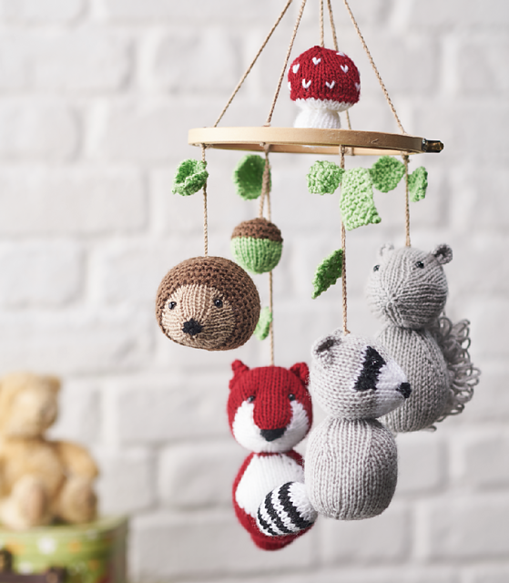 ravelry woodland tales animal mobile pattern by amanda berry