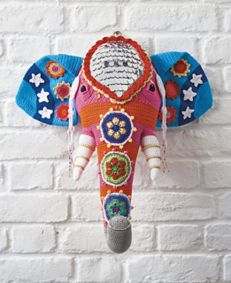 Beaded Elephant Head pattern by Vanessa Mooncie