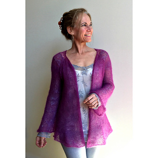 Ravelry: Diaphanous Mohair Cardigan pattern by Becky Pursell