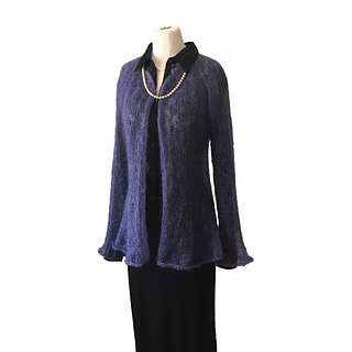 f7d4f93f089769 Ravelry  Diaphanous Mohair Cardigan pattern by Becky Pursell