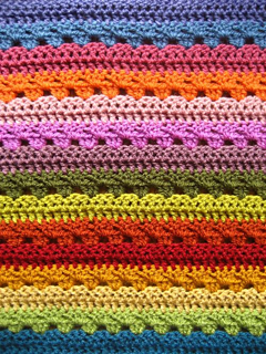 Free Crochet Twin Blanket Pattern : Ravelry: Cosy Stripe Blanket pattern by Lucy of Attic24