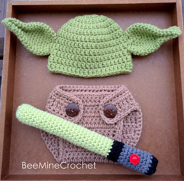 Ravelry Newborn Yoda Outfit Star Wars Pattern By Beeminecrochet