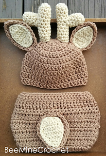 634360ed0 Ravelry: Deer Outfit (Newborn and 3 months) pattern by Brittany Sharp