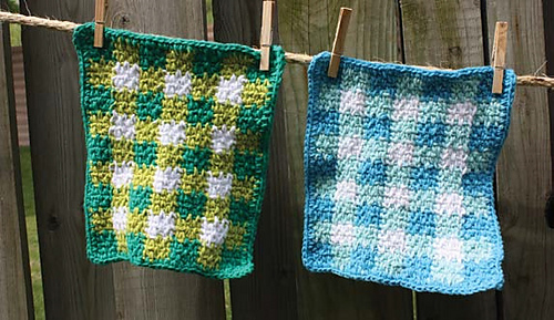 Ravelry Gingham Dishcloth Pattern By Lily Sugarn Cream