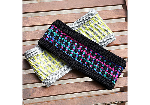 Ravelry: Graphic Grid Headband pattern by Patons