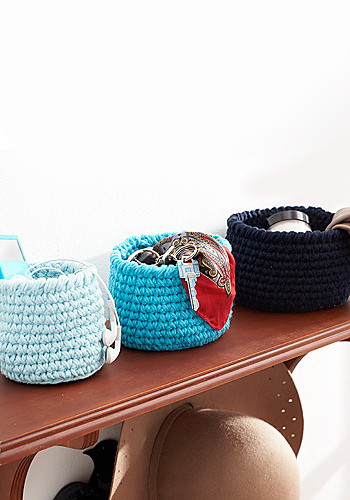 Ravelry Round Baskets Pattern By Lily Sugar'n Cream Magnificent Peaches And Cream Yarn Crochet Patterns