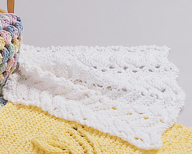 Ravelry Feather And Fan Dishcloth Pattern By Lily Sugarn Cream And