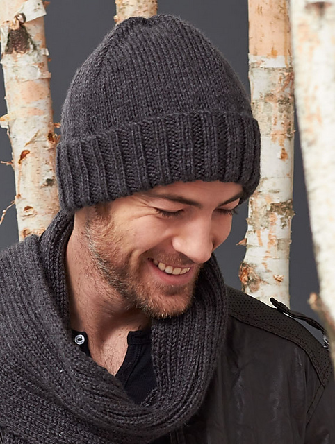 Ravelry: Men\'s Basic Hat pattern by Caron Design Team