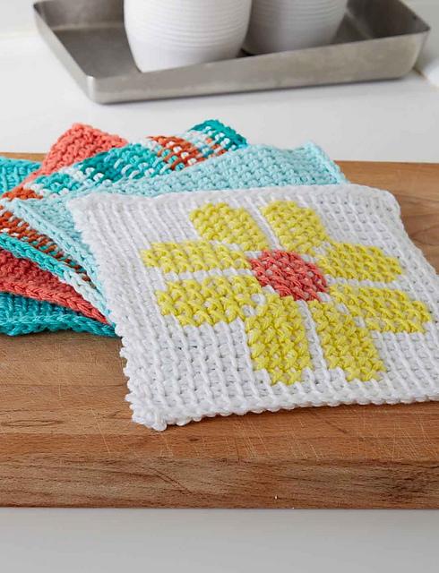 Ravelry Tunisian Simple Stitch Dishcloth Pattern By Lily Sugarn