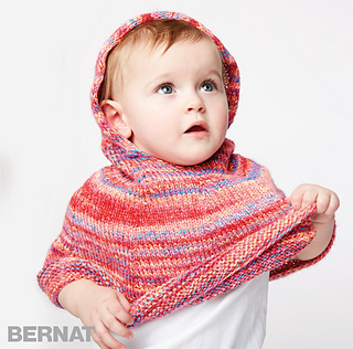 Ravelry: Reach For The Rainbow Poncho pattern by Bernat