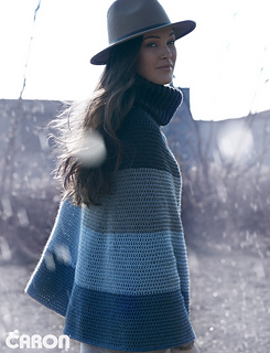 Cozy Cowl Cape pattern by Caron Design Team