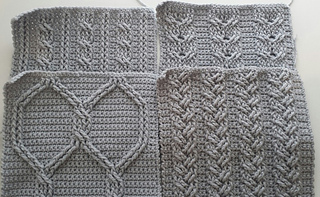 Ravelry Cable Crochet Squares Pattern By Elizabeth Ham