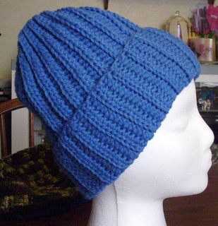 Free Knitting Pattern For Mens Ribbed Hat : Ravelry: Crochet Ribbed hat pattern by Elizabeth Ham