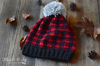 Ravelry  Plaid Slouchy Hat pattern by Bethany Dearden 2937269684e