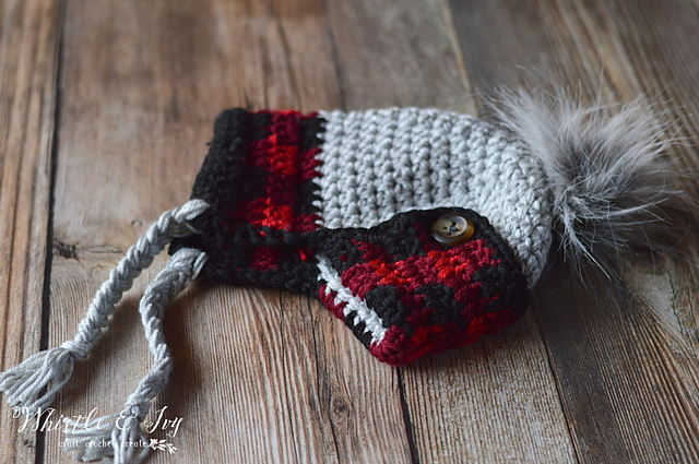 05ebbe51e Ravelry: Toddler Plaid Trapper Hat pattern by Bethany Dearden