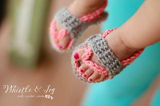 e0f9f0feced02 Ravelry  Baby Strap Flip-Flops pattern by Bethany Dearden