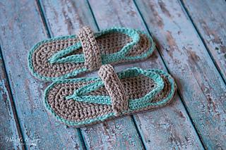 bd97deff6 Ravelry  Women s Flip Flops pattern by Bethany Dearden