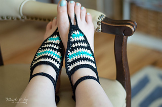 Sandals By Dearden Serape Barefoot Pattern Bethany IYvm6b7yfg