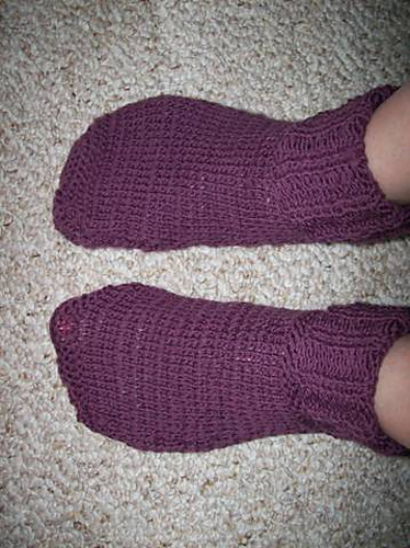 Ravelry Bevs Quick Knit 2 Needle Socks Pattern By Beverly A Qualheim