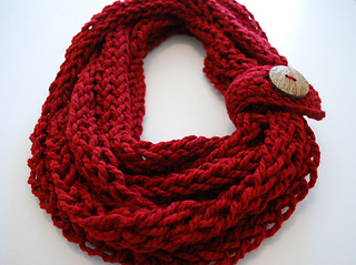 Ravelry Infinity Button Scarf Pattern By B Hooked Crochet