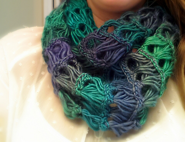 Ravelry Broomstick Lace Infinity Scarf Pattern By Bhooked Crochet