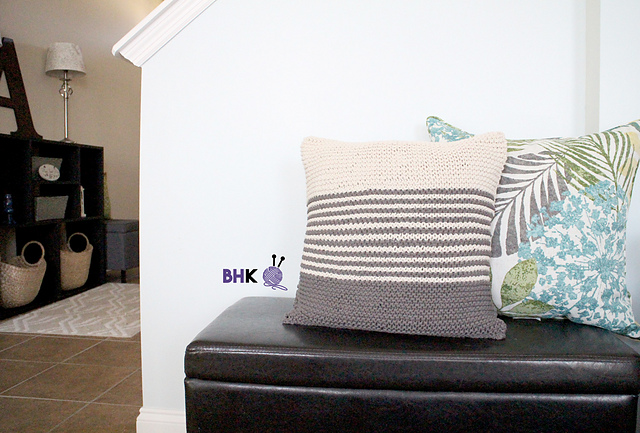 ravelry maker home decor pillow pattern by b hooked knitting