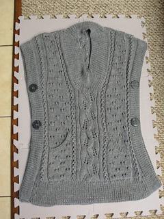 Ravelry Tabard Vest Shawl Collar Slipover Pattern By