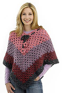 Ravelry Groovy Granny Poncho Pattern By Lion Brand Yarn