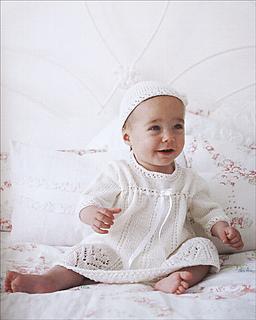 36b853bb6 Ravelry   Chamomile  Short Christening Dress   Bonnet pattern by ...
