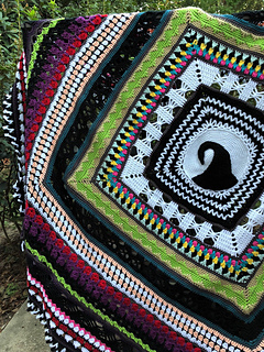 Nightmare Before Christmas Crochet Blanket.This Is Halloween Pattern By Elizabeth Mareno