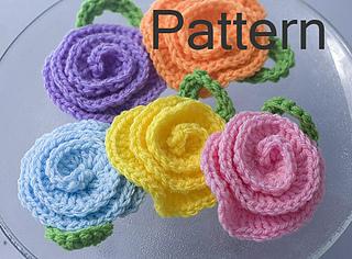 Ravelry Rose Tawashi Flower Pot Scrubber Pattern By Judy Stalus