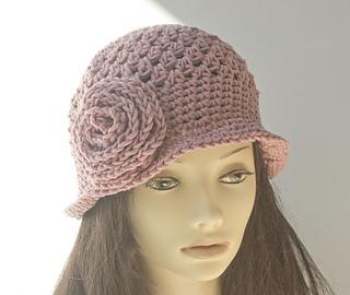 f314f806888 Ravelry  Crocheted Flower Cloche Hat pattern by Judy Stalus