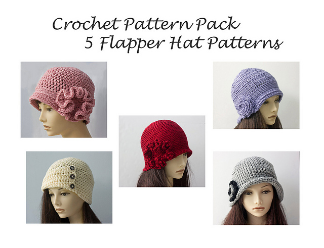 Ravelry Five Flapper Hats Pattern Pack Pattern By Judy Stalus