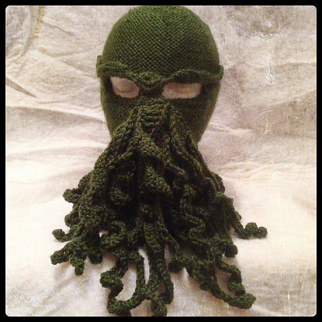 Ravelry Cthulhu Knit And Crochet Ski Mask Pattern By Nancy B Nutt