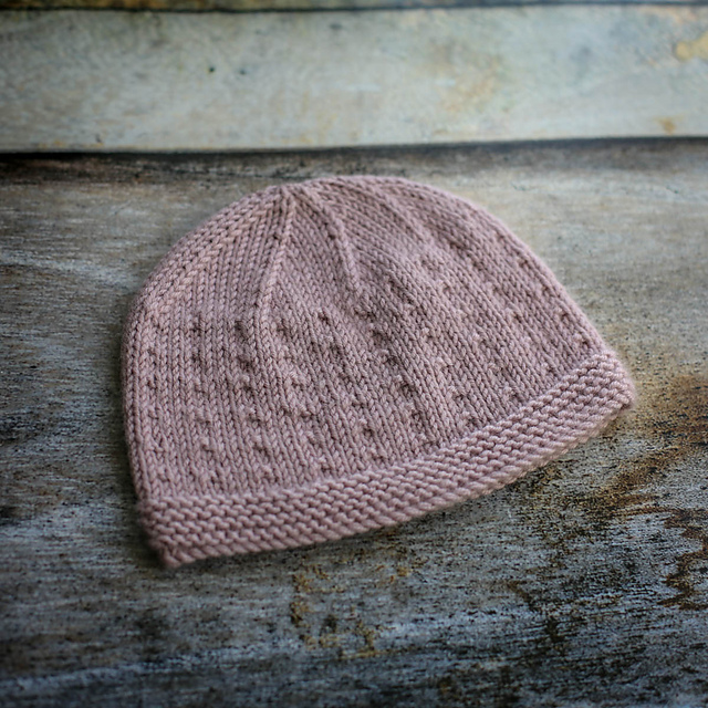 Ravelry  Dotted Swiss Baby Beanie Hat pattern by Tracy Muir 8b7fa07bb6b