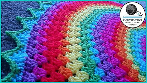 Ravelry Round Granny Rugblanket Pattern By Bobwilson123