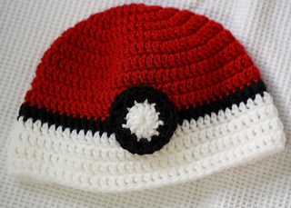 aa3ddbcc9a7a6 Ravelry  Poke ball Hat pattern by Bonnie Jacobs