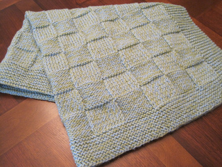 Ravelry Basketweave Checkers Baby Blanket Pattern By